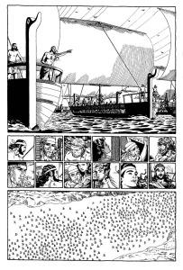 Akajerna avseglar mot Troja
