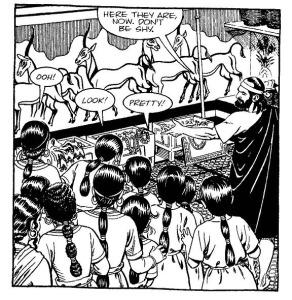 Odysseus och Lykomedes' döttrar i palatset på Skyros