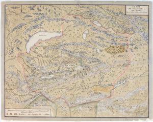 Renats karta över kalmuckernas rike.